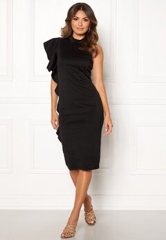 New Look Go Frill Bodycon Dress Black Bubbleroom.eu