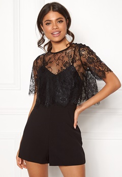 New Look Go Georgia Lace Playsuit Black Bubbleroom.eu