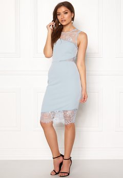New Look Go Jen Lace Bodycon Dress Pale Blue Bubbleroom.eu