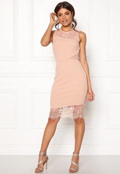 New Look Go Jen Lace Bodycon Dress Shell Pink Bubbleroom.eu
