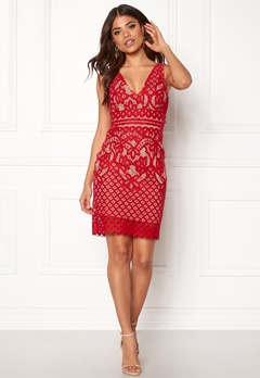 New Look Go Lace Contrast Bcon Red Bubbleroom.eu