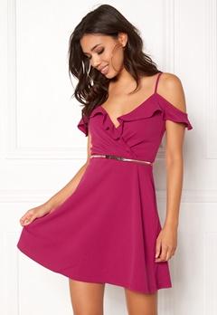 New Look Go Ruffle Dress Bright Pink Bubbleroom.eu