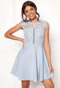 New Look Lace 2 in1 Detail Dress Blue Bubbleroom.eu