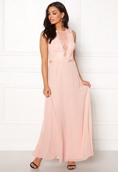 New Look Lace Chiffon Maxi Dress Pink Bubbleroom.eu