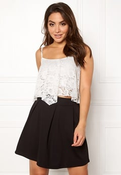 New Look Lace Hanky Crop Cream Bubbleroom.eu