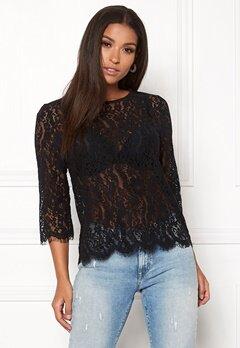 New Look Lace Zip Back Sleeve Tee Black Bubbleroom.eu
