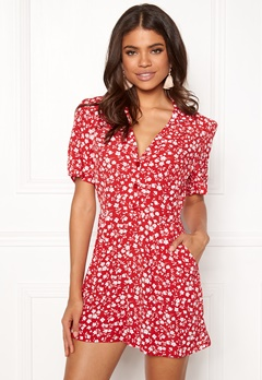New Look Mi Ditsy playsuit red Pattern Bubbleroom.eu