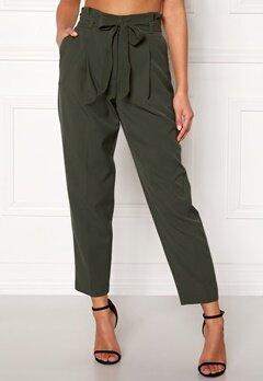 New Look Miller Tie Waist Trousers Mid Green Bubbleroom.eu