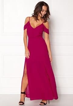New Look Off shoulder Maxi Dress Bright Pink Bubbleroom.eu