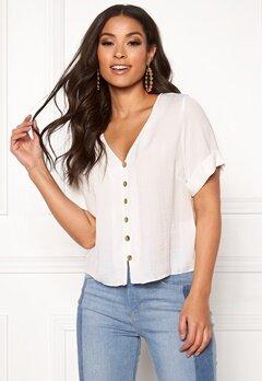 New Look Penny Button Shirt Off White Bubbleroom.eu