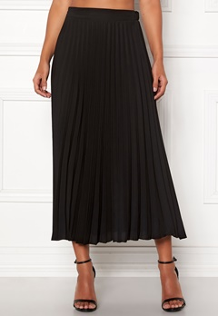 New Look Plain Pleated Midi Skirt Black Bubbleroom.eu