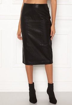 New Look PU Pencil Skirt Black Bubbleroom.eu
