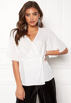 New Look Raquel Twist Wrap Top Cream Bubbleroom.eu