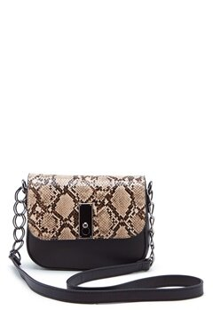New Look Samira Snake Saddle Bag Black Pattern Bubbleroom.eu