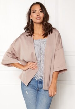 New Look Satin Kimono Jacket Shell Pink Bubbleroom.eu