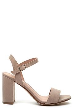 New Look Sims Block Heel Sandal Grey Bubbleroom.eu