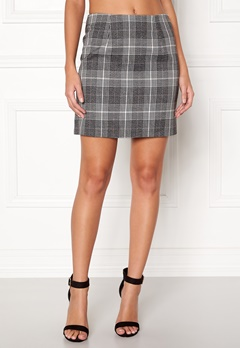 New Look Sparkle Check Mini Skirt Light Grey Bubbleroom.eu