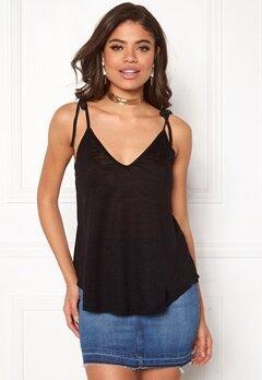 New Look Tie Up Strap Cami Black Bubbleroom.eu
