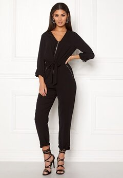 New Look Tim Zip Boilersuit Black Bubbleroom.eu