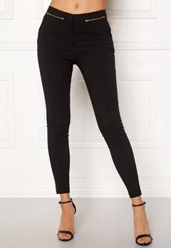 New Look Zip Bengaline Leggings Black Bubbleroom.eu