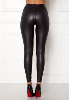 Pieces New Shiny Leggings Black Bubbleroom.eu