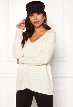 New Look Lattice Back Jumper Off White Bubbleroom.eu