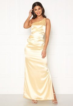 Nicole Falciani X Bubbleroom Nicole Falciani Pleat Gown Yellow Bubbleroom.eu