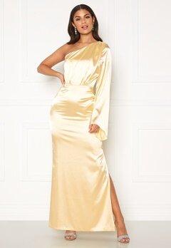 Nicole Falciani X Bubbleroom Nicole Falciani Satin Gown Gold-coloured Bubbleroom.eu