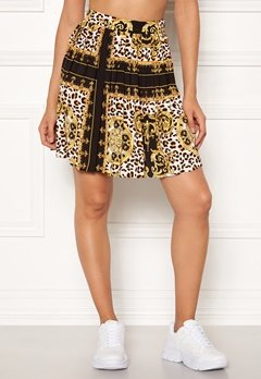 Rut & Circle Nicole Pleated Skirt Yellow Print Bubbleroom.eu