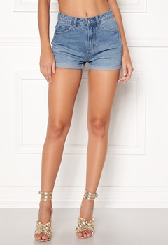 VERO MODA Nineteen HW Loose Shorts Light Blue Denim Bubbleroom.eu