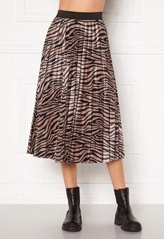 VILA Nitban Print Skirt Nomad Zebra Bubbleroom.eu