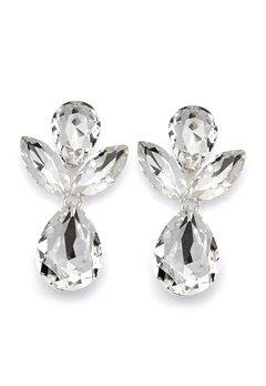SNÖ of Sweden Noemi Big Drop Earrings Silver/Clear Bubbleroom.eu