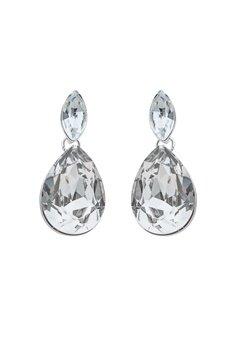 SNÖ of Sweden Noemi Small Drop Earrings Silver/Clear Bubbleroom.eu