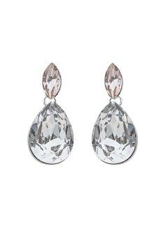 SNÖ of Sweden Noemi Small Drop Earrings Silver/Mix5 Bubbleroom.eu