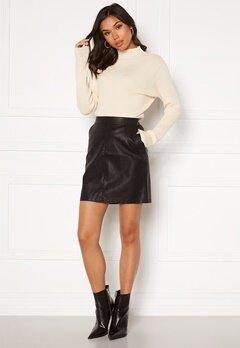 Noisy May Kelly NW PU Skirt Black Bubbleroom.eu