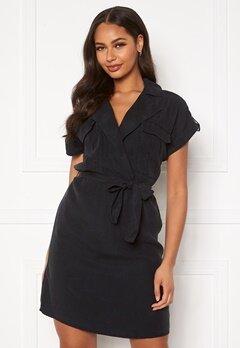 Noisy May Vera S/S Tencel Shirt Dress Black Bubbleroom.eu