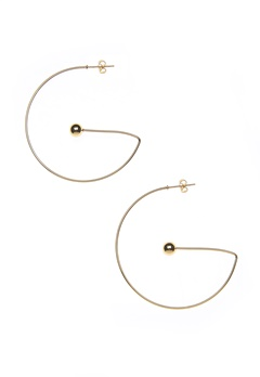 NORR by Erbs Virva Earrings Large Gold Bubbleroom.eu