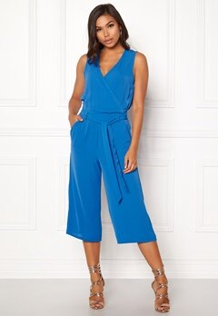 ONLY Nova S/L Wrap Jumpsuit Palace Blue Bubbleroom.eu