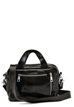 Nunoo Donna Snake Leather Bag Black w.Diamonds Bubbleroom.eu
