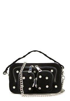 Nunoo Helena Flash Leather Bag Black w.Diamonds Bubbleroom.eu