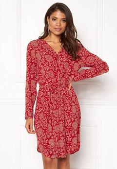 OBJECT Apala L/S Shirt Dress Haute Red Bubbleroom.eu