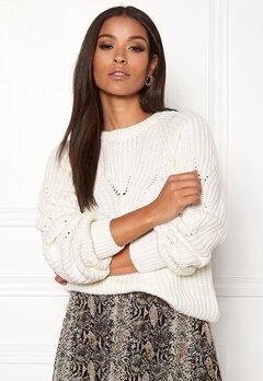 OBJECT Arianna L/S Knit Pullover Gardenia Bubbleroom.eu