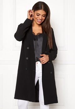 OBJECT Beau Long Coat Black Bubbleroom.eu