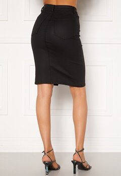 OBJECT Belle Supercoated Slit Skirt Black Bubbleroom.eu