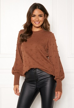 OBJECT Bouble L/S Knit Pullover Brown Patina Bubbleroom.eu