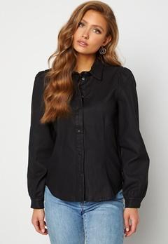 OBJECT Carla Coated Shirt Black Bubbleroom.eu