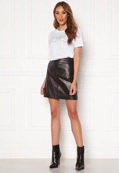 OBJECT Chloe Leather Skirt Black Bubbleroom.eu