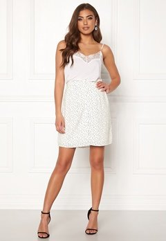 OBJECT Clarissa Short Skirt Gardenia/Dots Bubbleroom.eu