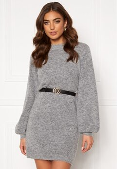 OBJECT Eve Nonsia Knit Dress Light Grey Melange Bubbleroom.eu