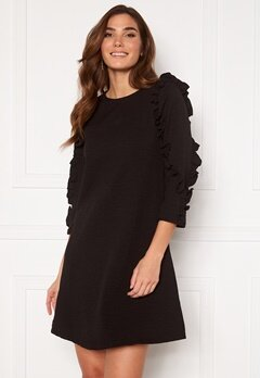 OBJECT Evita 3/4 Dress Black Bubbleroom.eu